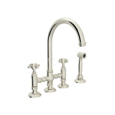 Rohl Country Kitchen Polished Nickel 2-handle Deck Mount ...