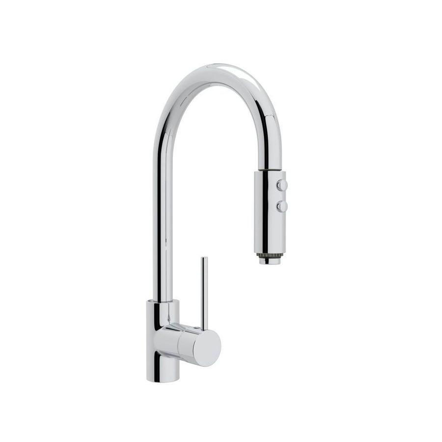 Shop Rohl Modern Kitchen Polished Chrome 1 Handle Deck Mount Pull