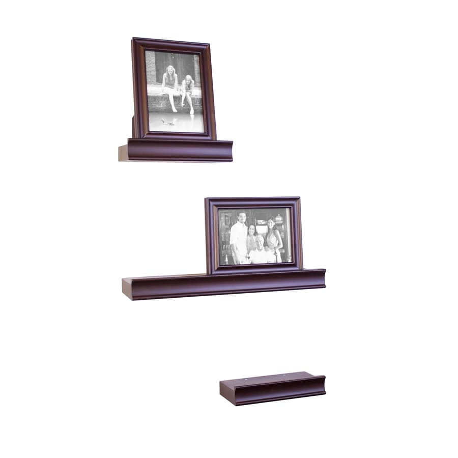 allen + roth 17.625-in W x 2.625-in H x 8.5-in D Wood Wall Mounted Shelving