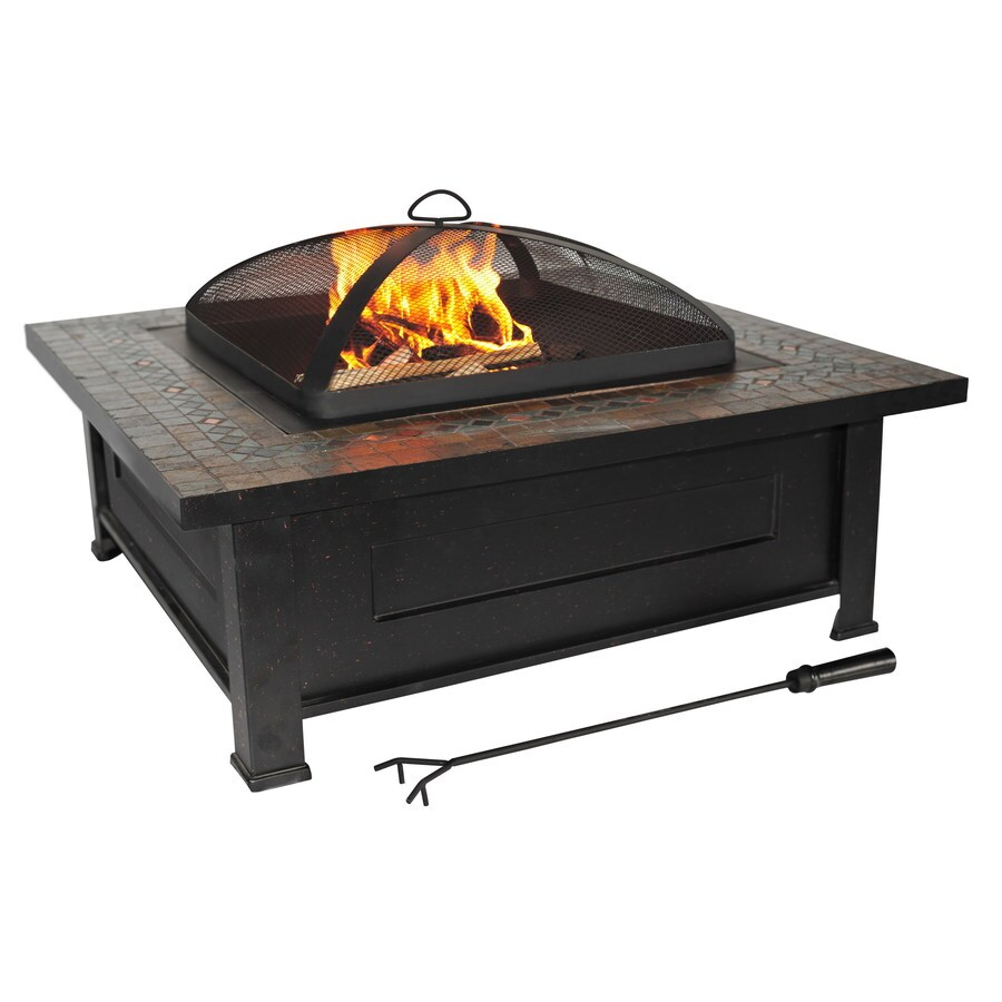 allen + roth 36-in Black Steel Wood-Burning Fire Pit - Allen + Roth 36-in Black Steel Wood-Burning Fire Pit At Lowes.com