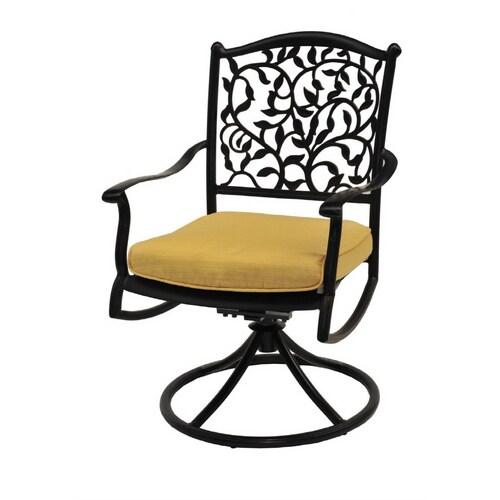 Garden Treasures Roslyn Swivel Rocker Patio Chairs, Set of ...