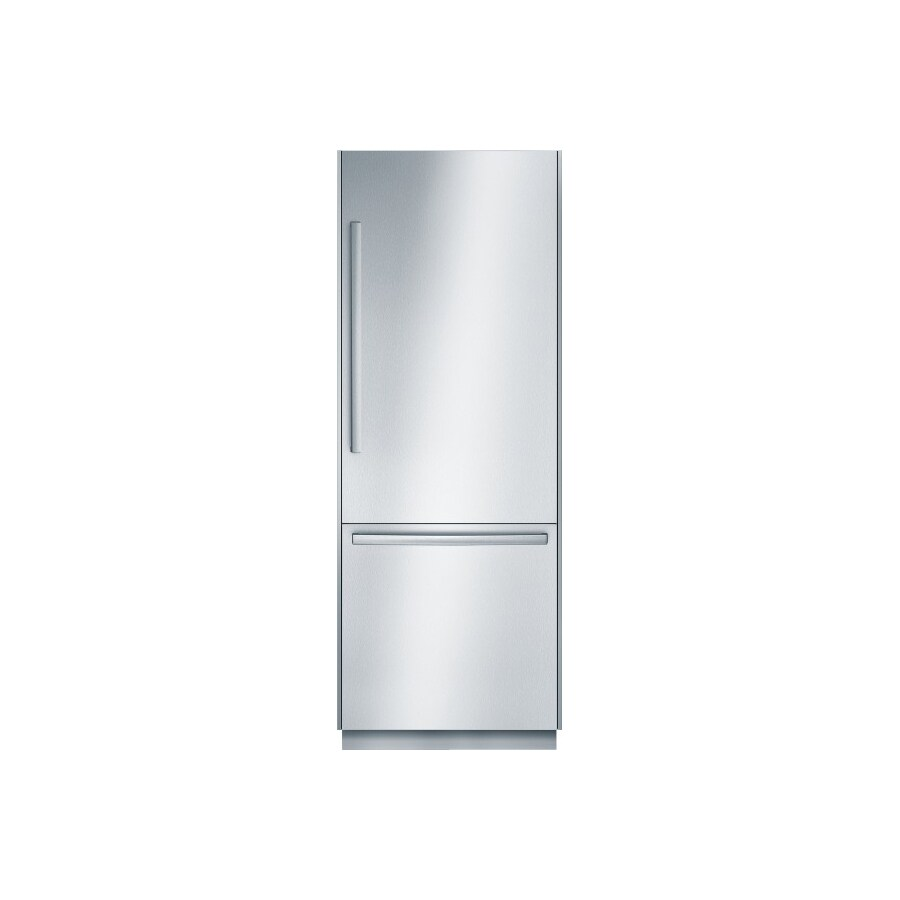 Bosch 800 Series 30-in Bottom Freezer Built-In Refrigerator with Single Ice Maker (Stainless Steel) ENERGY STAR