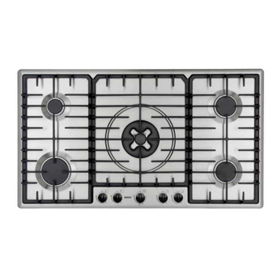 Lowes cooktops 36 inch - Bosch 36 Inch Gas Cooktop Color Stainless