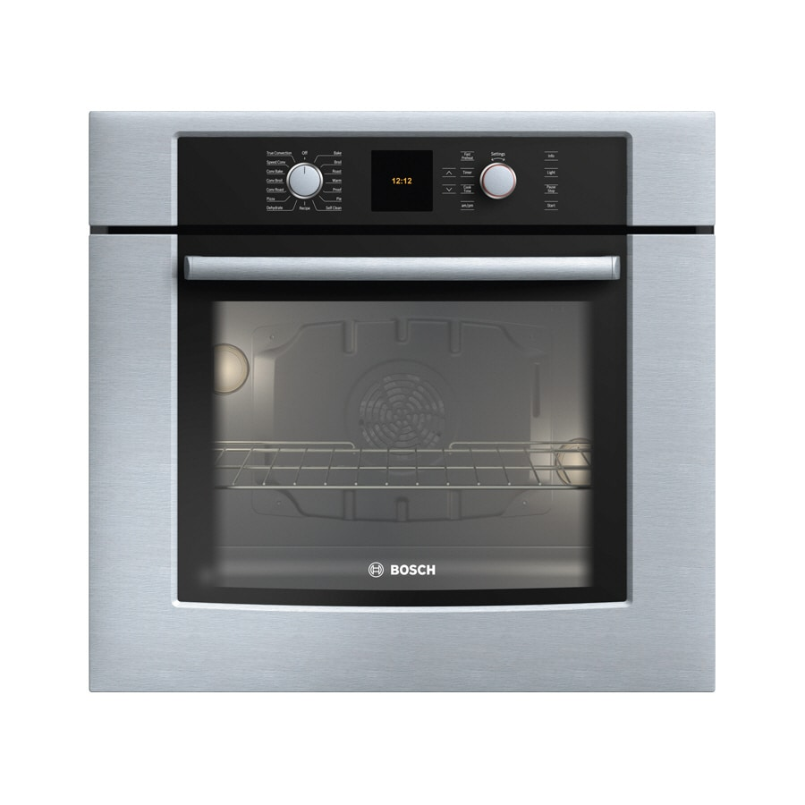 Bosch 500 Series Self Cleaning Convection Single Electric Wall Oven Stainless Common