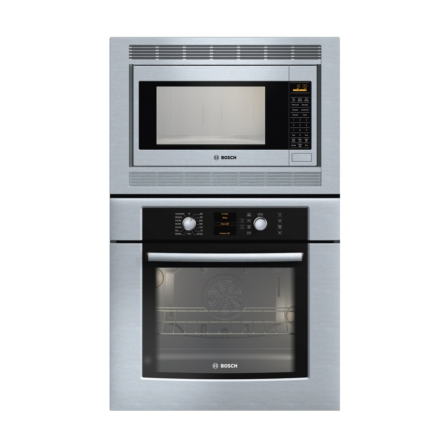 Bosch Self Cleaning Microwave Wall Oven Combo Stainless Common 30