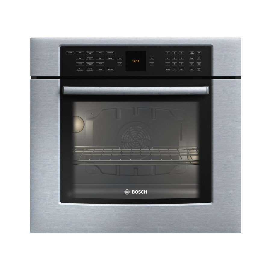 Bosch 800 Series 30-in Self-Cleaning Convection Single Electric Wall Oven (Stainless)