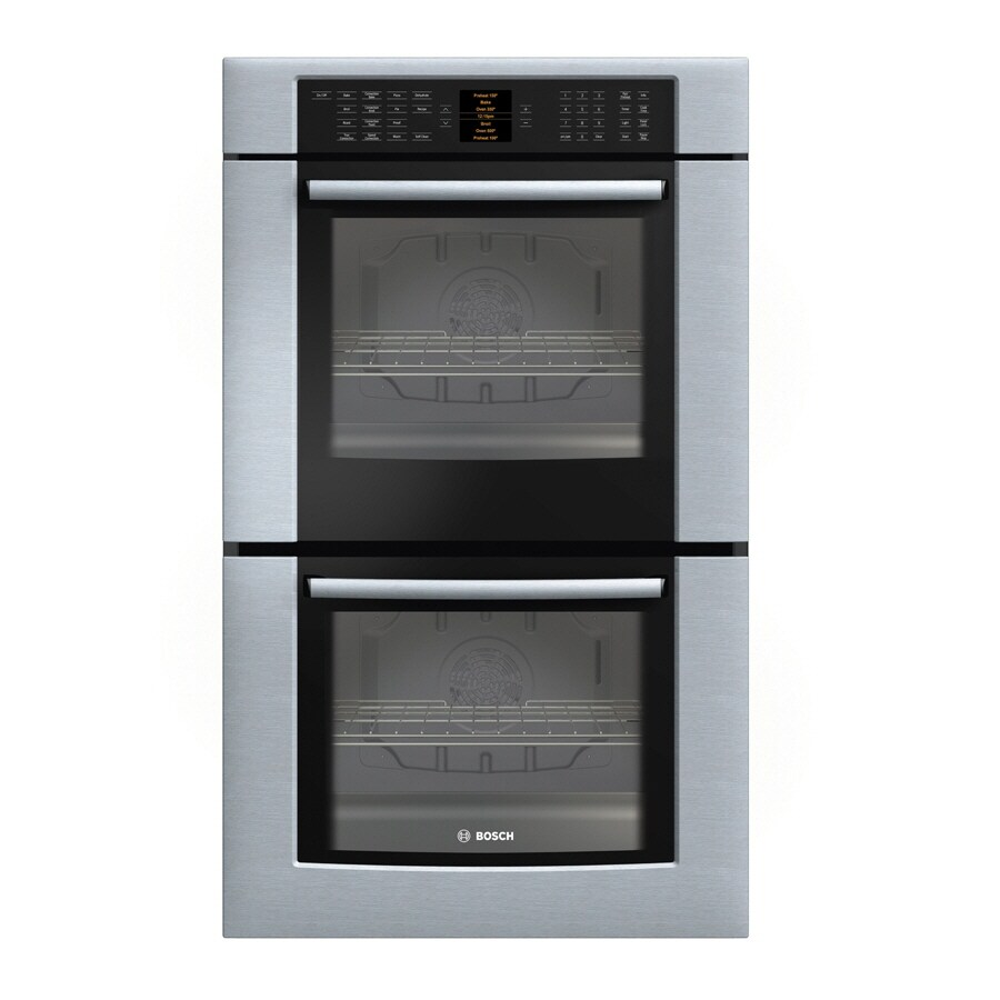 Bosch 800 Series 30-in Self-Cleaning Convection Double Electric Wall Oven (Stainless)