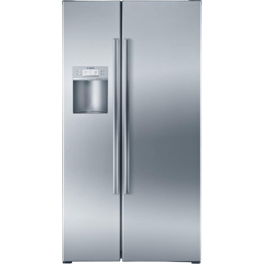 Bosch 800 Series 21.7-cu ft Counter-Depth Side-by-Side Refrigerator with Single Ice Maker (Stainless) ENERGY STAR