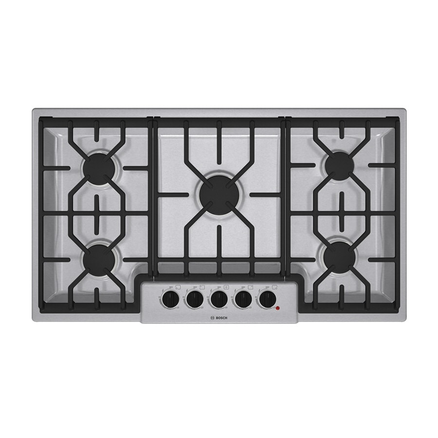 Bosch 500 Series 36-in 5-Burner Gas Cooktop (Stainless)