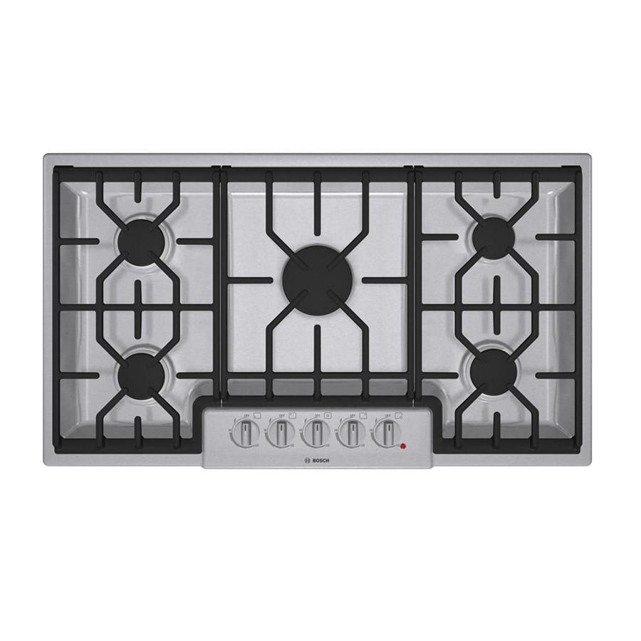 Bosch 800 Series 36-in 5-Burner Gas Cooktop (Stainless)
