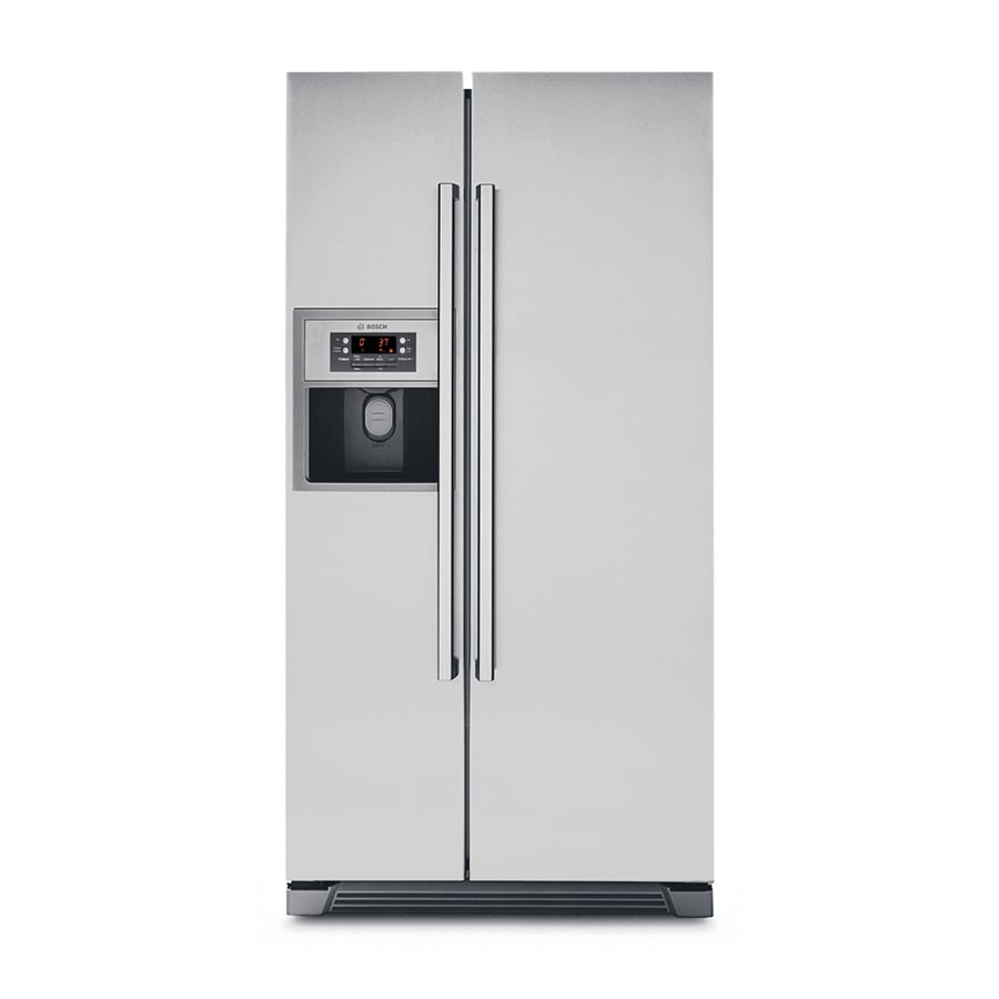 Bosch 20 01 Cu Ft Side By Side Refrigerator With Ice Maker