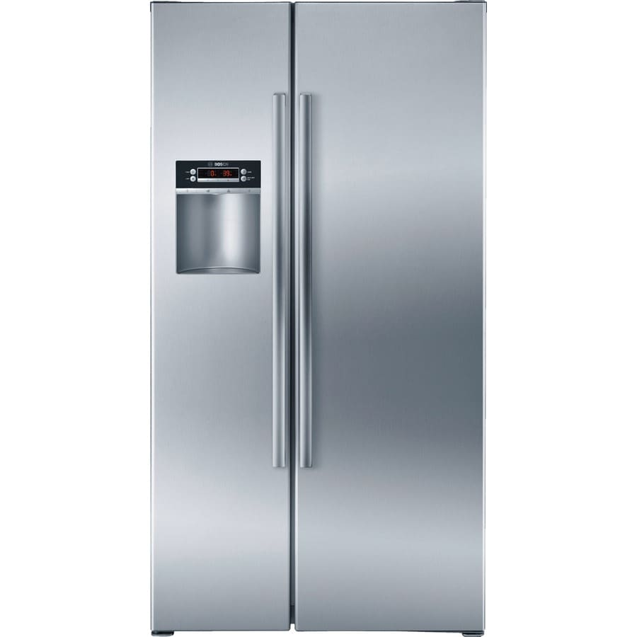 Bosch 300 Series 22.1-cu ft Counter-Depth Side-by-Side Refrigerator with Single Ice Maker (Stainless) ENERGY STAR