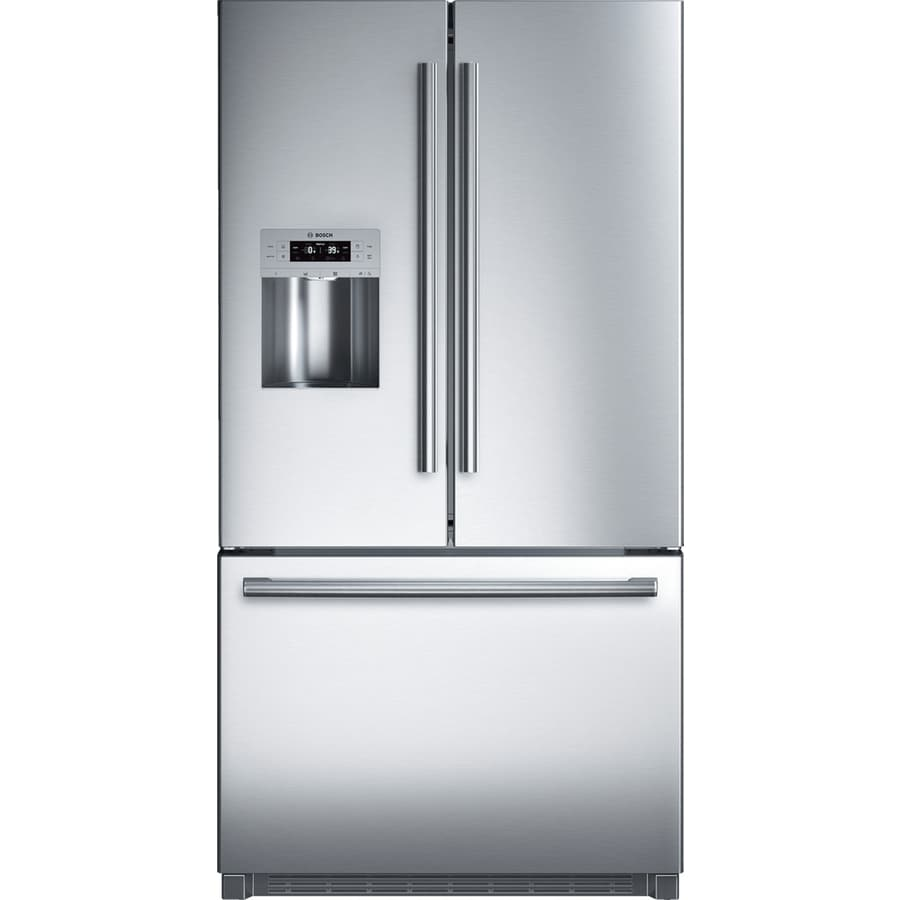 Bosch 25.9-cu ft French Door Refrigerator with Single Ice Maker (Stainless Steel) ENERGY STAR