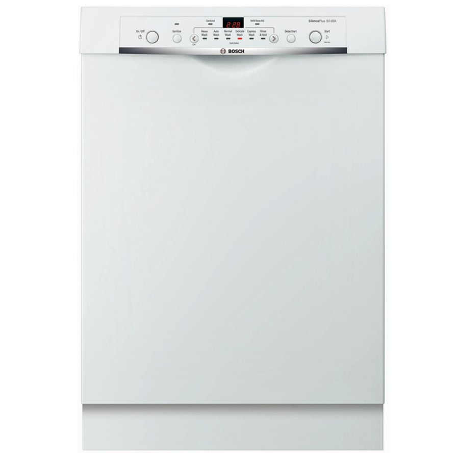 shop bosch ascenta 50 decibel built in dishwasher white common 24 in actual at. Black Bedroom Furniture Sets. Home Design Ideas