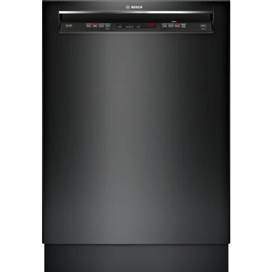 Bosch 300 Series 46-Decibel Built-In Dishwasher (Black) (Common: 24-in; Actual: 23.625-in) ENERGY STAR