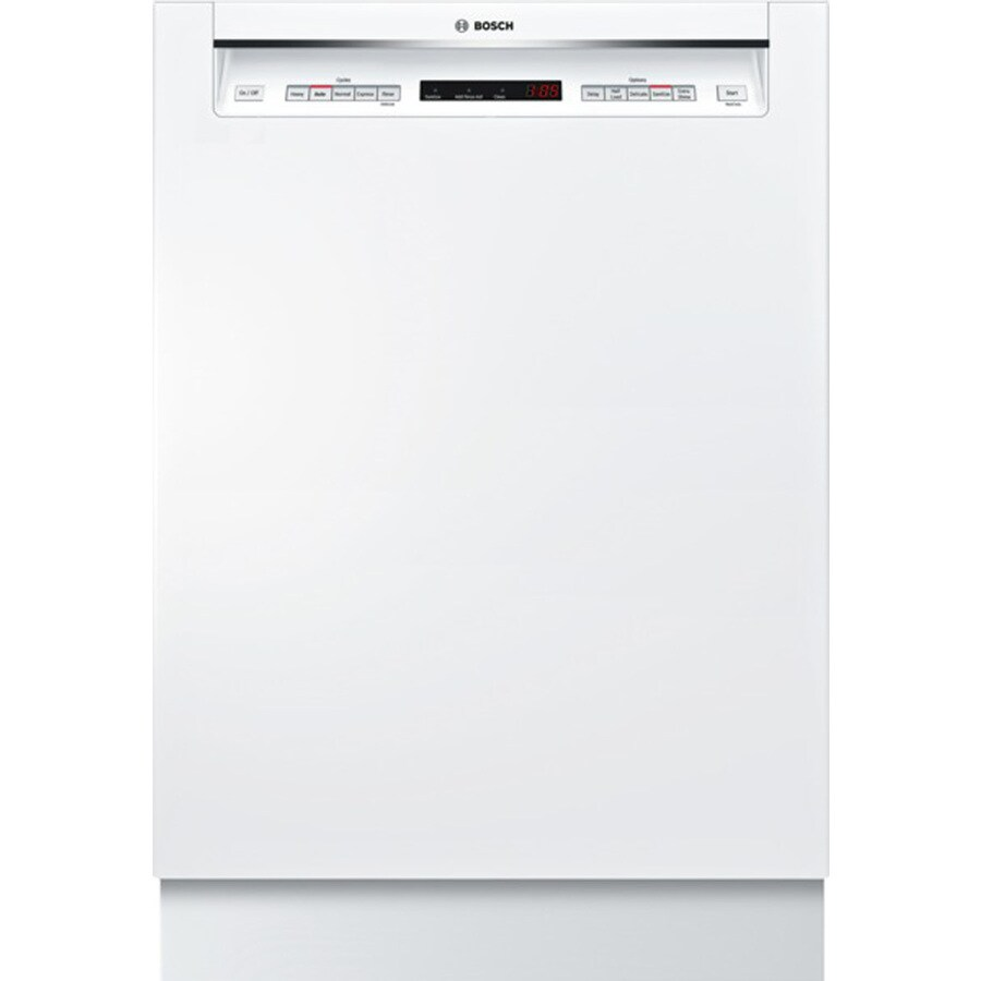 Bosch 500 Series 44-Decibel Built-In Dishwasher (White) (Common: 24-in; Actual: 23.625-in) ENERGY STAR