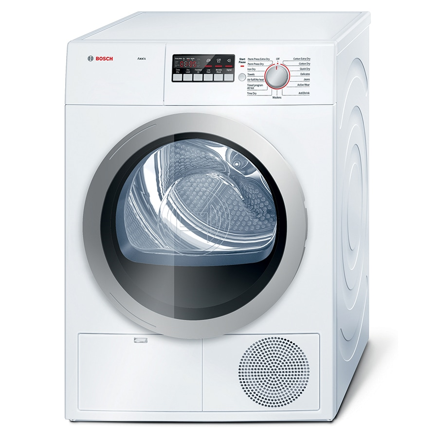 Bosch 4-cu ft Stackable Electric Dryer (White/Silver) ENERGY STAR