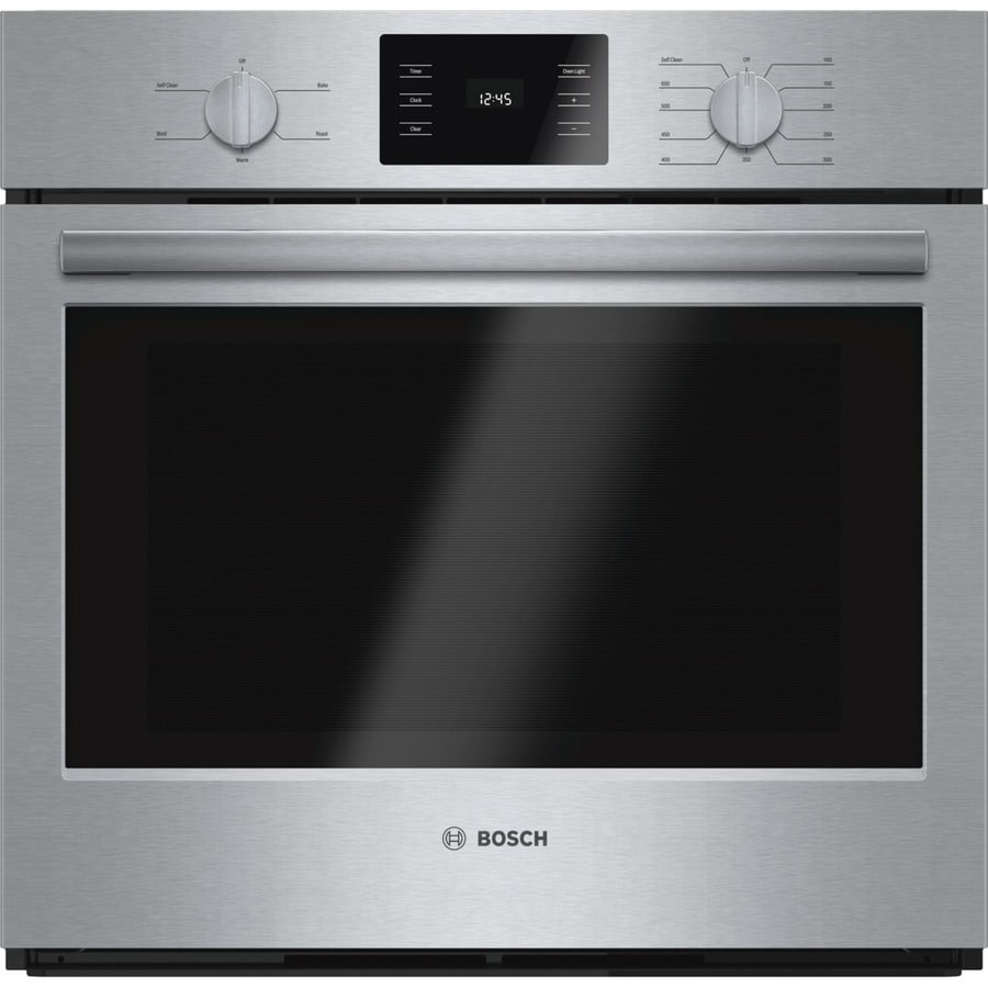 Bosch 500 Series Self-cleaning Single Electric Wall Oven (Stainless Steel) (Common: 30-in; Actual 29.75-in)