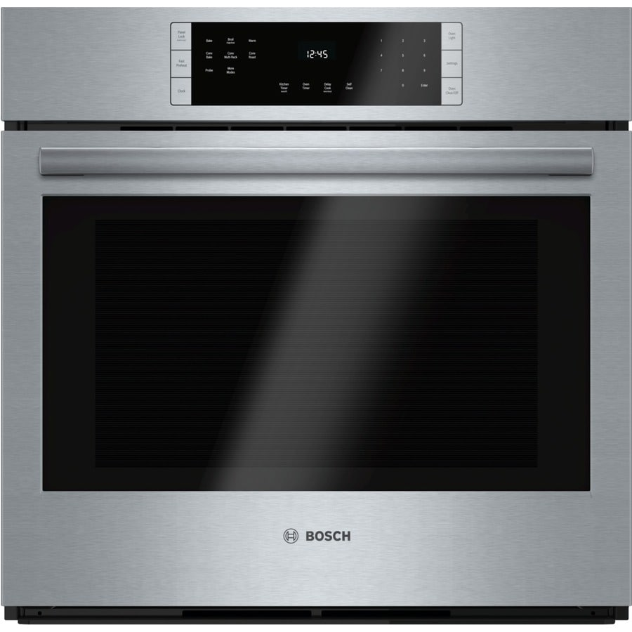 Bosch 800 Series Self-cleaning Convection Single Electric Wall Oven (Stainless Steel) (Common: 30-in; Actual 29.75-in)