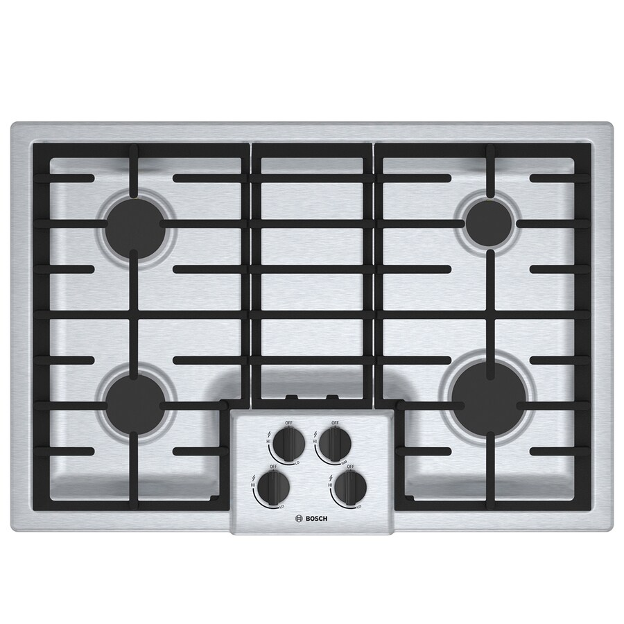 Bosch 500 Series Gas Cooktop (Stainless Steel) (Common: 30-in; Actual: 31-in)