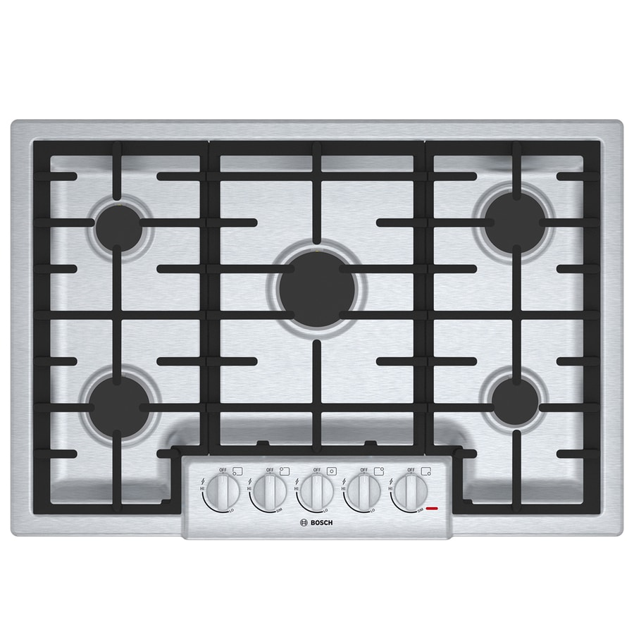 5 Burner Gas Cooktops: Shop Bosch 800 Series 5-Burner Gas Cooktop (Stainless