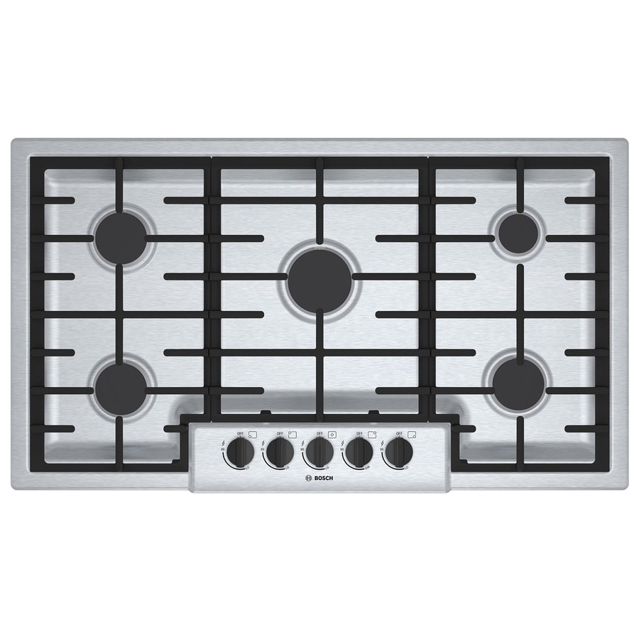 5 Burner Gas Cooktops: Shop Bosch 500 Series 5-Burner Gas Cooktop (Stainless