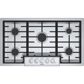 Bosch 800 Series 5 Burner Gas Cooktop Stainless Steel Common 36