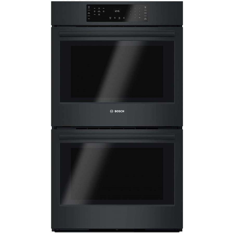 Bosch 800 Series Convection Double Electric Wall Oven (Black) (Common: 30-in; Actual: 29.75-in)