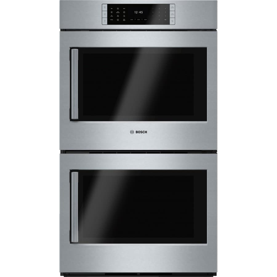 Bosch Benchmark Self Cleaning True Convection Double Electric Wall Oven Stainless Steel