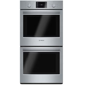 Kitchenaid 27 In Self Cleaning Single Fan Double Electric Wall Oven Stainless Steel In The Double Electric Wall Ovens Department At Lowes Com
