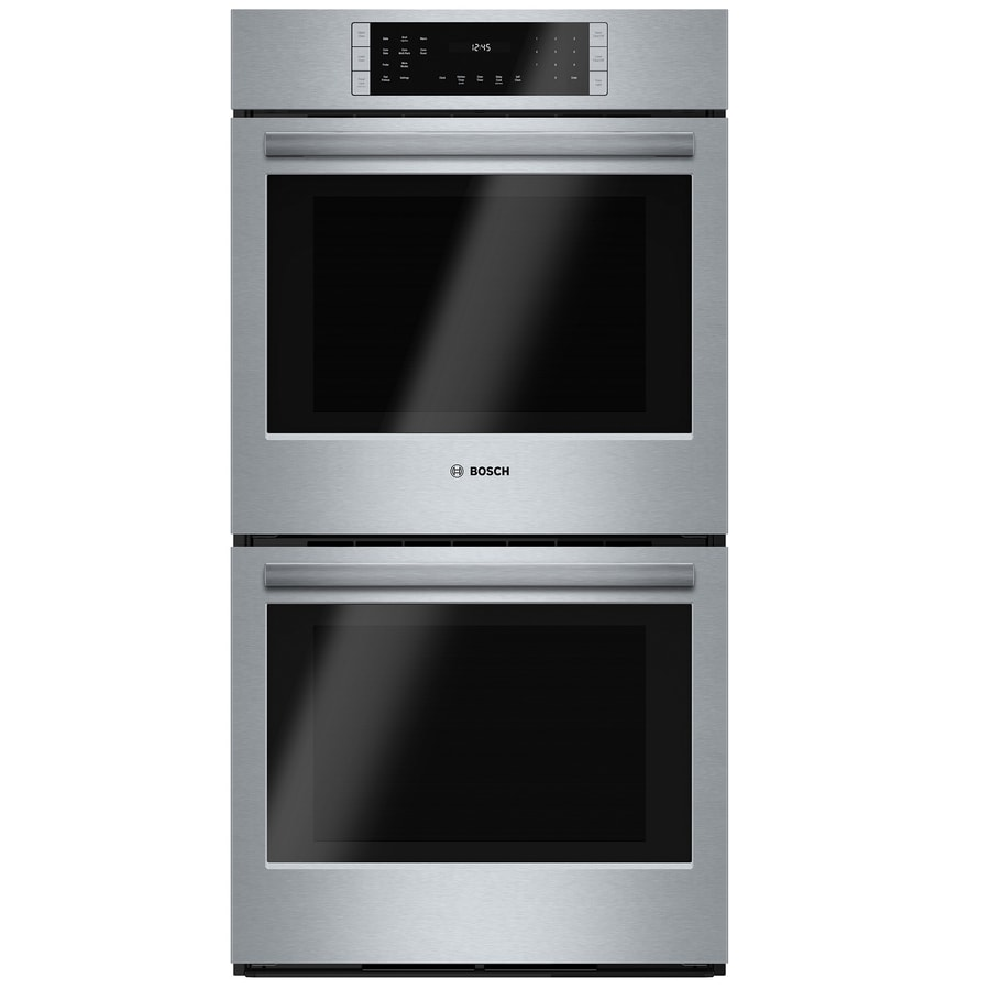 Bosch 800 Series Self-Cleaning Convection Double Electric Wall Oven (Stainless Steel) (Common: 27-in; Actual: 26.75-in)