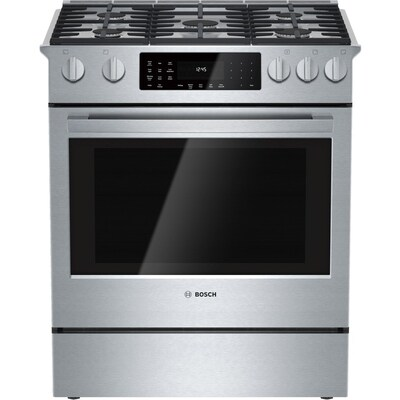 Bosch 800 Series 5-Burner Self-cleaning True Convection