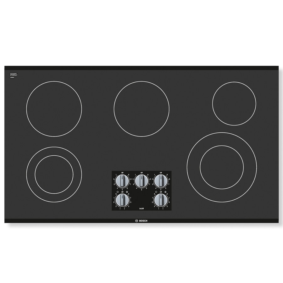 Bosch 500 Series 5-Element Smooth Surface Electric Cooktop (Black) (Common: 36-in; Actual 37-in)