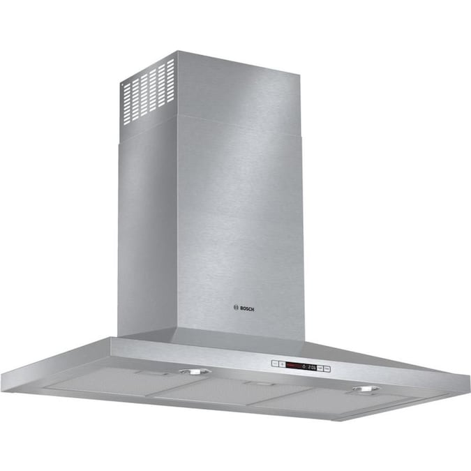 Bosch 36 In Convertible Stainless Steel Wall Mounted Range Hood With Charcoal Filter In The Wall Mounted Range Hoods Department At Lowes Com