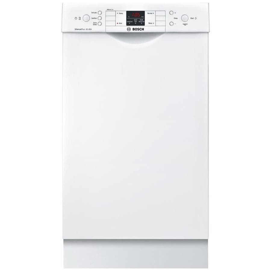 Bosch 300 Series 46-Decibel Built-In Dishwasher (White) (Common: 18-in; Actual: 17.625-in) ENERGY STAR