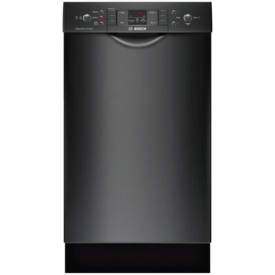 Bosch 300 Series 46-Decibel Built-In Dishwasher (Black) (Common: 18-in; Actual: 17.625-in) ENERGY STAR