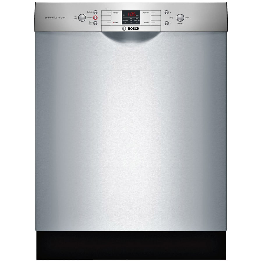 Bosch 300 Series 46-Decibel Built-In Dishwasher (Stainless Steel) (Common: 24-in; Actual: 23.5625-in) ENERGY STAR