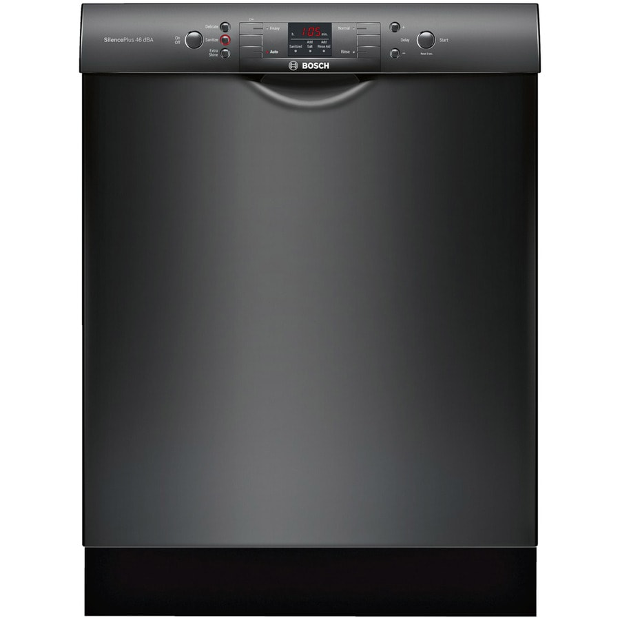 Bosch 300 Series 46-Decibel Built-In Dishwasher (Black) (Common: 24-in; Actual: 23.5625-in) ENERGY STAR
