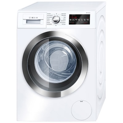 800 2 Cu Ft High Efficiency Stackable Front Load Washer White Chrome Trim Energy Star