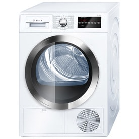 Bosch 800 Series 4 Cu Ft Stackable Ventless Electric Dryer (White/Chrome)
