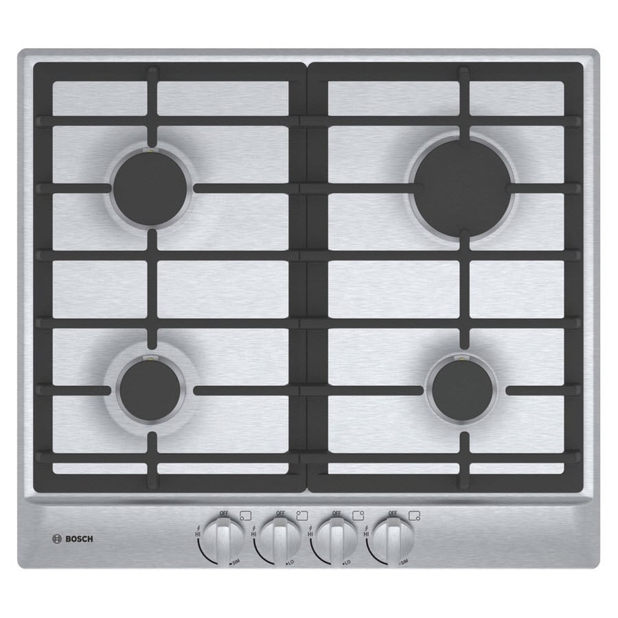 Bosch 500 Series 4-Burner Gas Cooktop (Stainless Steel) (Common: 24-in; Actual: 23-in)