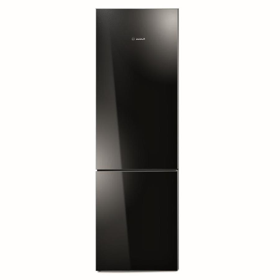 shop bosch 800 series ft counter depth bottom freezer refrigerator black behind glass. Black Bedroom Furniture Sets. Home Design Ideas