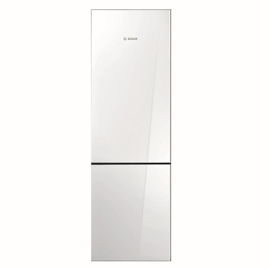Bosch 800 Series 10.07-cu ft Counter-Depth Bottom-Freezer Refrigerator (White behind glass) ENERGY STAR