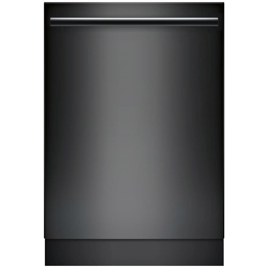 Bosch Ascenta 46-Decibel Built-In Dishwasher (Black) (Common: 24-in; Actual: 23.563-in) ENERGY STAR