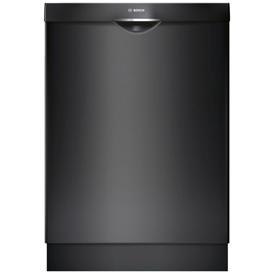 Bosch Ascenta 46-Decibel Built-In Dishwasher (Black) (Common: 24-in; Actual: 23.563-in) ENERGY STAR