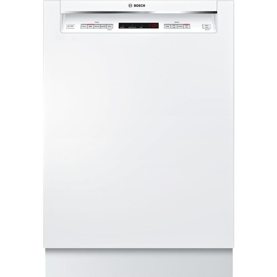 Bosch 300 Series 44-Decibel Built-In Dishwasher (White) (Common: 24-in; Actual: 23.5625-in) ENERGY STAR