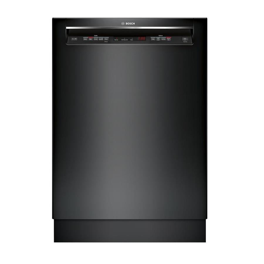 Shop Bosch 300 24-in Black Recessed Handle Dishwasher With