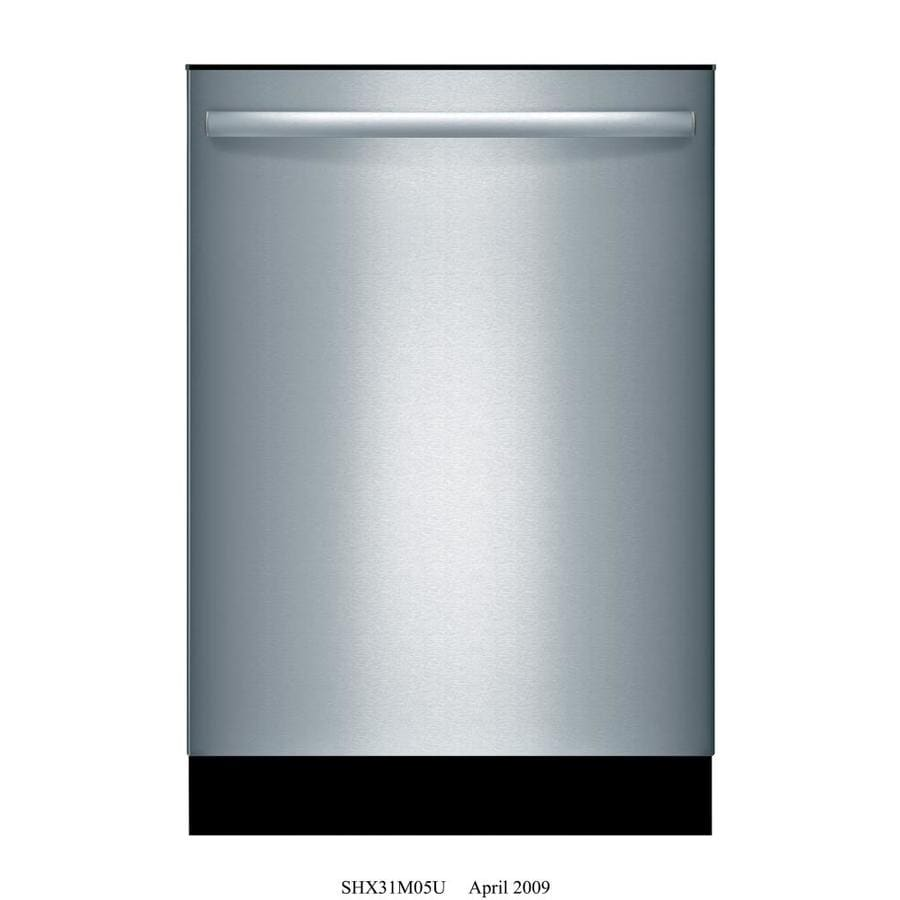 Shop Bosch 800 24-in Stainless Steel Bar Handle Dishwasher with ...