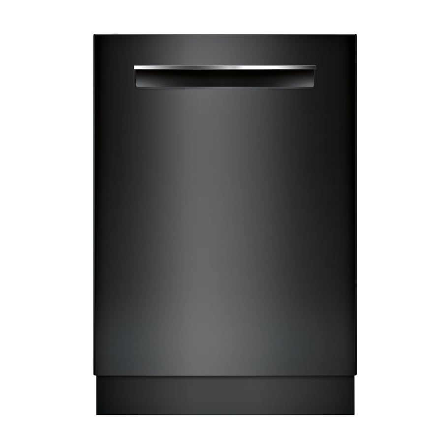 Bosch 500 24 In Black Pocket Handle Tall Tub Dishwasher With Stainless Steel And