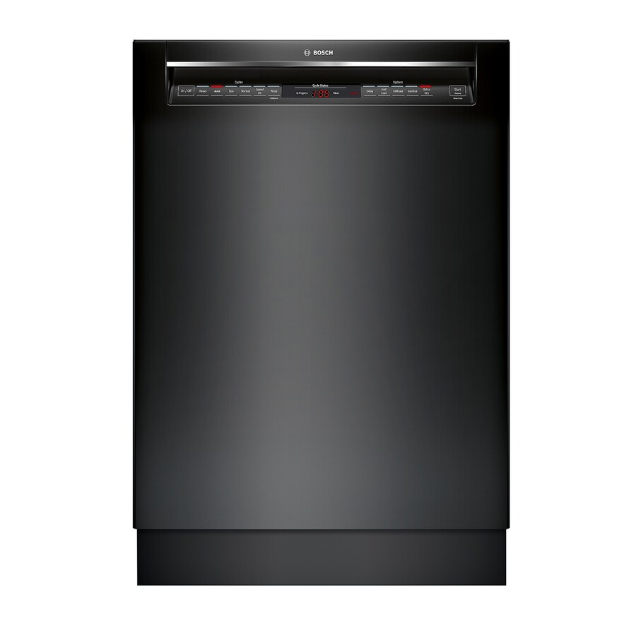 Bosch 800 Series 42-Decibel Built-in Dishwasher (Black) (Common: 24-in; Actual: 23.5625-in) ENERGY STAR
